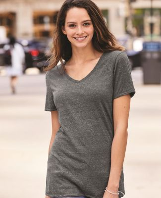 Jerzees 88WVR Women's Snow Heather Jersey V-Neck Catalog