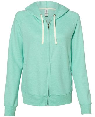 Jerzees 92WR Women's Snow Heather French Terry Ful Mint