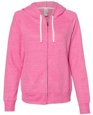 Jerzees 92WR Women's Snow Heather French Terry Ful Pink