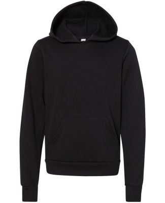 Bella + Canvas 3719Y Youth Sponge Fleece Hoodie BLACK