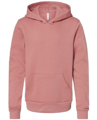 Bella + Canvas 3719Y Youth Sponge Fleece Hoodie MAUVE