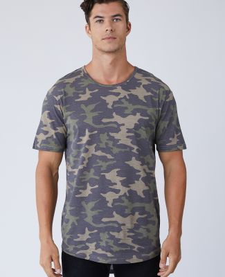 Cotton Heritage MC1050C Unisex Drop Tail T-Shirt Khaki Camo