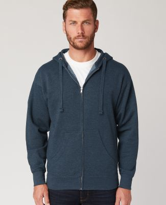 Cotton Heritage M2781 Premium Full-Zip Hoodie (New Poseidon Blue Heather