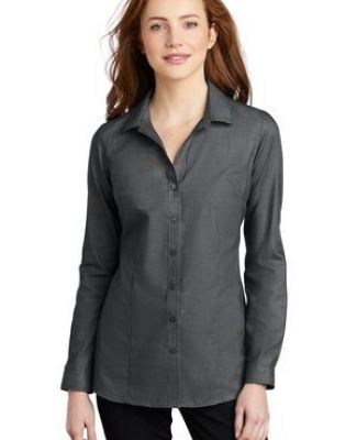 Port Authority Clothing LW645 Port Authority    Ladies Pincheck Easy Care Shirt Catalog
