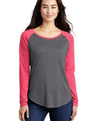 Sport Tek LST400LS Sport-Tek    Ladies PosiCharge    Long Sleeve Tri-Blend Wicking Scoop Neck Raglan Tee Catalog