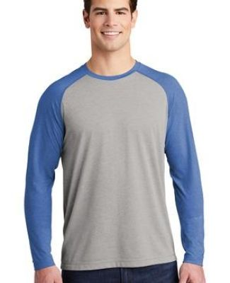 Sport Tek ST400LS Sport-Tek    PosiCharge    Long Sleeve Tri-Blend Wicking Raglan Tee Catalog
