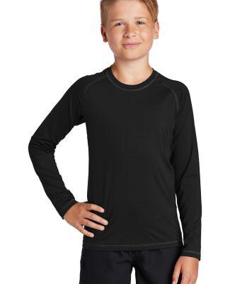 Sport Tek YST470LS Sport-Tek    Youth Long Sleeve  Black