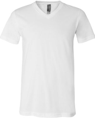 BELLA+CANVAS 3005 Cotton V-Neck T-shirt WHITE