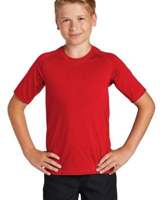 Sport Tek YST470 Sport-Tek    Youth Rashguard Tee True Red