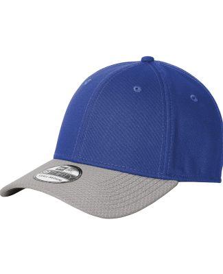 New Era NE1122     Stretch Cotton Striped Cap Royal/Grey