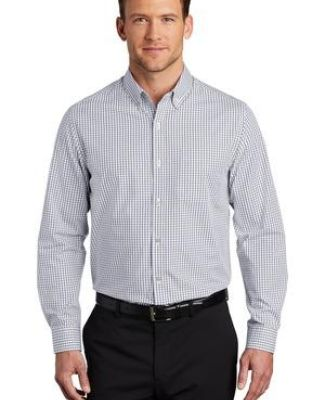 Port Authority Clothing W644 Port Authority    Broadcloth Gingham Easy Care Shirt Catalog