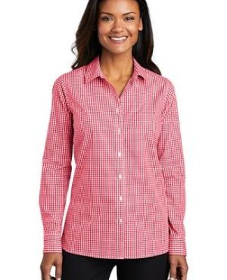Port Authority Clothing LW644 Port Authority    Ladies Broadcloth Gingham Easy Care Shirt Catalog