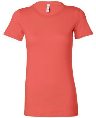 BELLA 6004 Womens Favorite T-Shirt CORAL