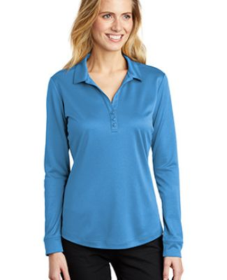 Port Authority Clothing L540LS Port Authority    Ladies Silk Touch     Performance Long Sleeve Polo Catalog