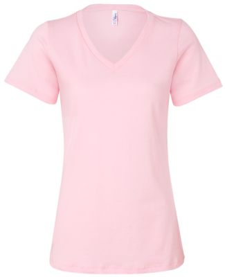 BELLA 6405 Ladies Relaxed V-Neck T-shirt PINK