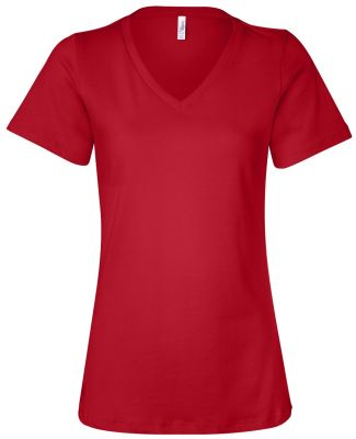 BELLA 6405 Ladies Relaxed V-Neck T-shirt RED