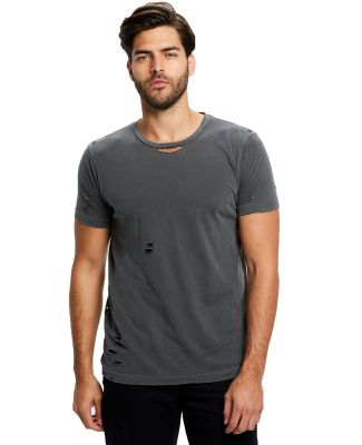 Unisex Pigment-Dyed Destroyed T-Shirt Pigment Black