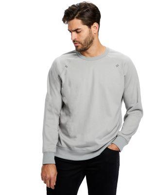 Unisex Flame Resistant Long Sleeve Raglan T-Shirt Silver