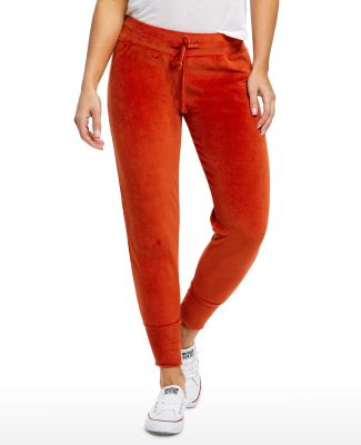 US Blanks / US571 Women's Plush Velour Pants Rust