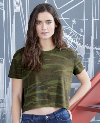 Alternative Apparel 5114 Women's Vintage Jersey Headliner Cropped Tee Catalog