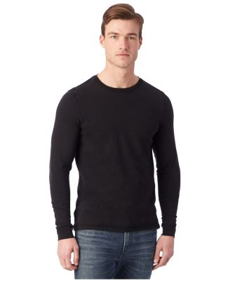 Alternative Apparel 1011 Heavy Wash Long Sleeve Ou BLACK