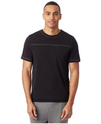 Alternative Apparel 1054 Heavy Wash Football Tee BLACK