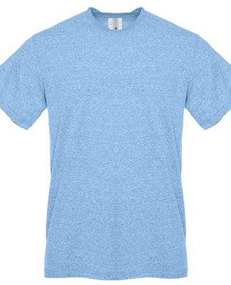 Next Level Apparel 6407 Sueded Crew SNOW HEATHR BLUE