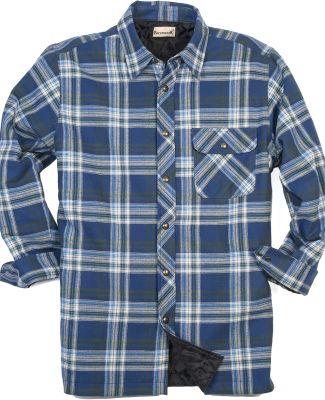 Backpacker BP7002T Men's Tall Flannel Shirt Jacket BLUE/ GREEN