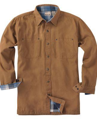 Backpacker BP7006T Men's Tall Canvas Shirt Jacket  BROWN
