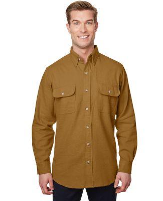 Backpacker BP7090 Men'sSolid Chamois Shirt BROWN