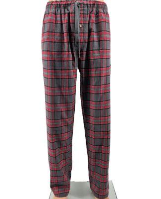 Backpacker BP7093 Men's Flannel Lounge Pants RED GRAY