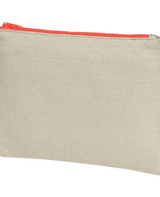 econscious EC8402 Hemp Pouch  NATURAL/ ORANGE