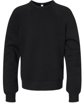 Bella + Canvas 3901Y Youth Sponge Fleece Crewneck  BLACK