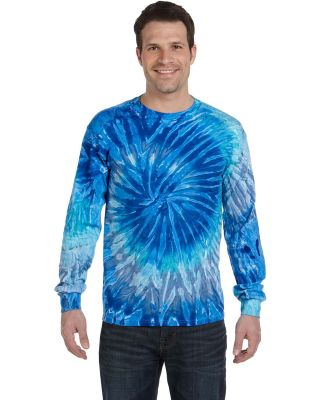 Tie-Dye CD2000 Adult 5.4 oz. 100% Cotton Long-Slee BLUE JERRY
