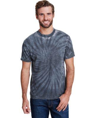 Tie-Dye CD1090 Adult Burnout Festival T-Shirt BLACK