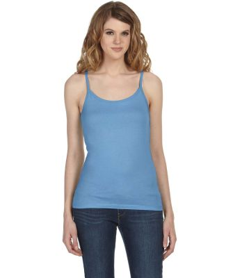 CANVAS 8111 Womens Sheer Jersey Tank Top OCEAN BLUE
