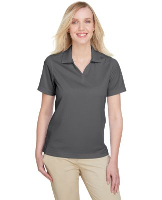 UltraClub UC102W Ladies' Cavalry Twill Performance CHARCOAL/ BLACK