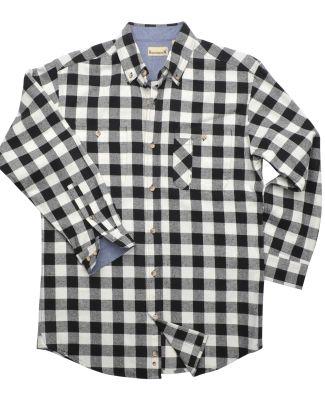 Backpacker BP7040 Men's Yarn-Dyed Long-Sleeve Brus BLACK/ WHITE