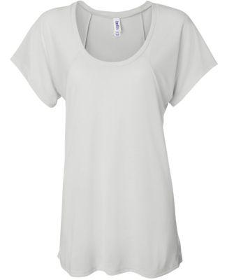 BELLA 8801 Womens Jersey Flowy Shirt WHITE