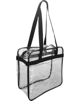 Liberty Bags OAD5005 OAD Clear Tote w/ Zippered To BLACK