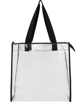 Liberty Bags OAD5006 OAD Clear Tote w/ Gusseted An BLACK