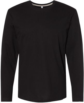 LA T 6918 Forward Shoulder Long Sleeve Fine Jersey BLACK/ TITANIUM