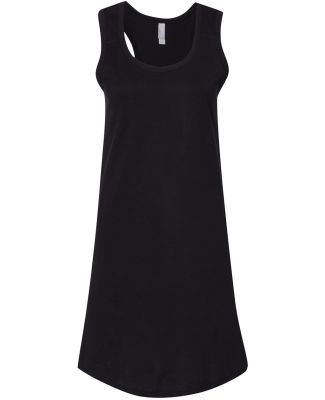 LA T 3523 Women's Fine Jersey Racerback Tank Dress BLACK
