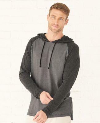 LA T 6917 Fine Jersey Long Sleeve Hooded Raglan T-Shirt Catalog