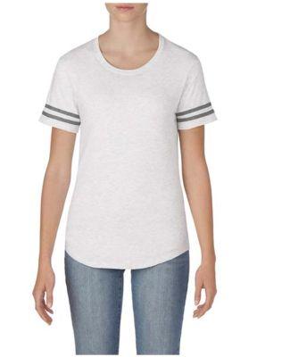 Gildan 500VTL Women's Victory T-Shirt ASH GRY/ GRP HTH