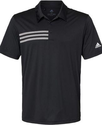 Adidas Golf Clothing A324 3-Stripes Chest Sport Sh Black/ White