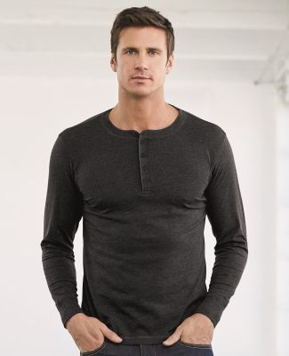 BELLA+CANVAS 3150 Mens Long Sleeve Henley Shirt Catalog