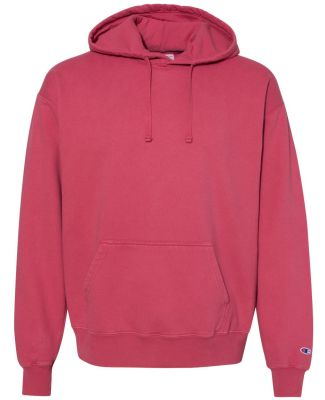Champion Clothing CD450 Garment Dyed Hooded Sweats Crimson