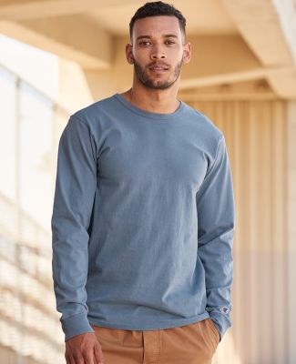 Champion Clothing CD200 Garment Dyed Long Sleeve T-Shirt Catalog
