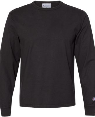 Champion Clothing CD200 Garment Dyed Long Sleeve T Black